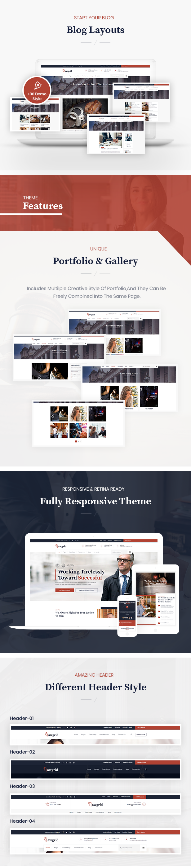 Lawgrid WordPress Theme